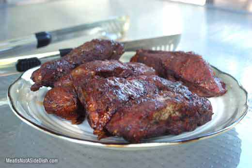 MeatIsNotASideDish Smoked Ribs Dinner Recipe