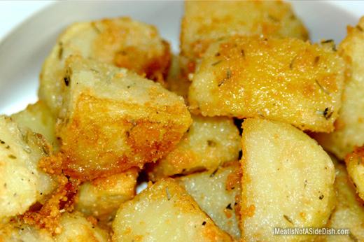 Crispy Baked Parmesan Potatoes