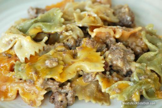 Beefy Noodle Wacky Cheeseburger Casserole