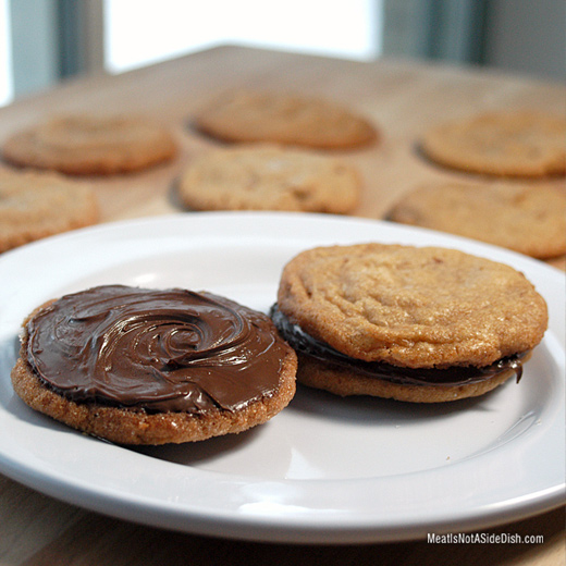 Nutella Peanut Butter Pretzel Cookies - Gluten Free